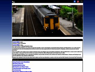 midcheshirerail.org.uk screenshot