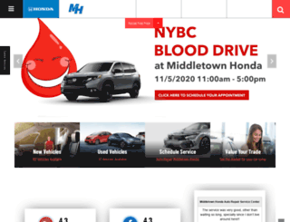 middletownhonda.com screenshot