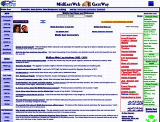 mideastweb.org screenshot
