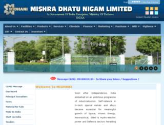 midhani.gov.in screenshot
