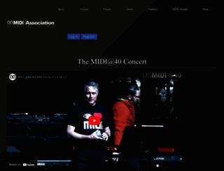 midi.org screenshot