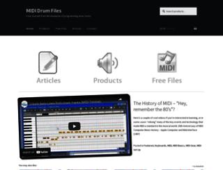 mididrumfiles.com screenshot