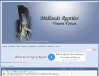 midlandsreptiles.forumotions.com screenshot