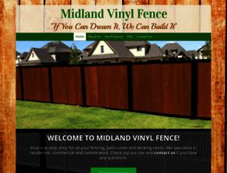 midlandvinylfence.com screenshot