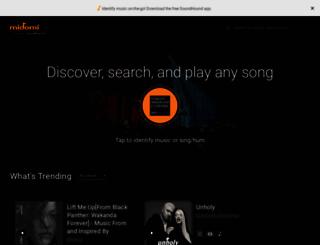 midomi.com screenshot