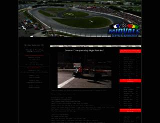 midvalespeedway.com screenshot