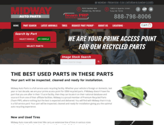 midwayautoparts.com screenshot