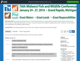 midwestfishwildlifeconferen2016.sched.org screenshot