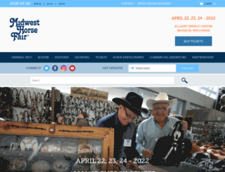 midwesthorsefair.com screenshot