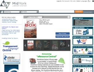 midyorklib.org screenshot
