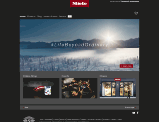 miele.com.hk screenshot