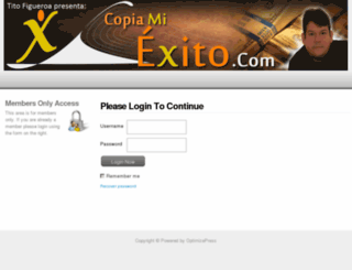 miembros.copiamiexito.com screenshot