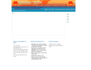 mienthithucvk.mofa.gov.vn screenshot