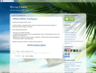 miesiaccudow.blogspot.com screenshot