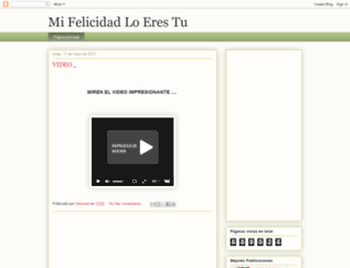 mifelicidaloerestu.blogspot.com screenshot