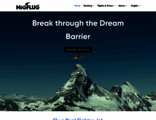 migflug.com screenshot
