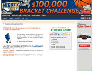 mighty1090.hoopspickem.com screenshot
