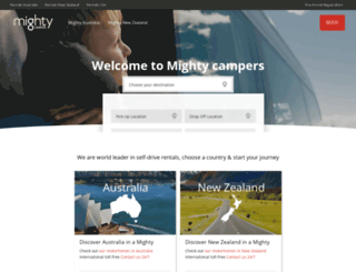 mightycampers.com screenshot