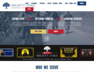 mightyoaksfoundation.org screenshot