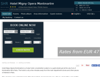 migny-montmartreparis.hotel-rez.com screenshot