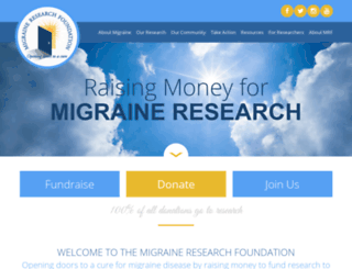 migraineresearchfoundation.org screenshot