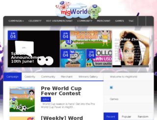 migworld.mig33.com screenshot