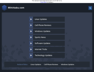 mihirbabu.com screenshot