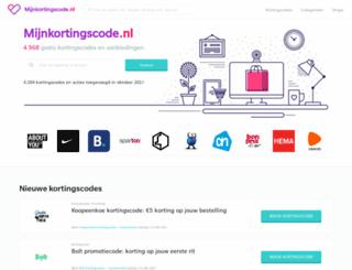mijnkortingscode.nl screenshot