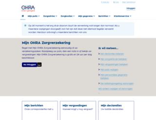mijnohrazorgverzekering.nl screenshot