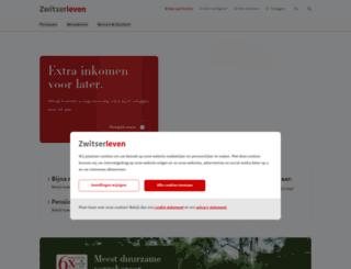 mijnrekening.zwitserleven.nl screenshot