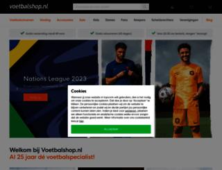 mijnvoetbalshop.nl screenshot