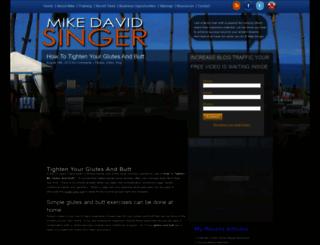 mikedavidsinger.com screenshot