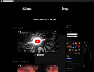 mikeeessongs.blogspot.com screenshot