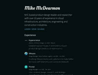 mikemcdearmon.com screenshot