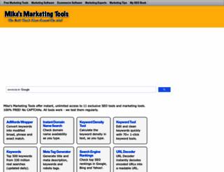 mikes-marketing-tools.com screenshot
