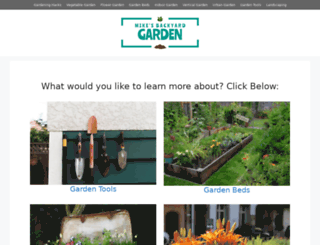 mikesbackyardgarden.org screenshot