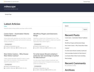 mikescape.net screenshot