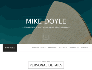 mikescottdoyle.com screenshot