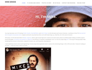 mikesenese.com screenshot
