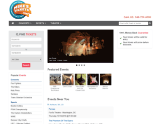 mikestickets.com screenshot