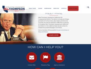 mikethompson.house.gov screenshot