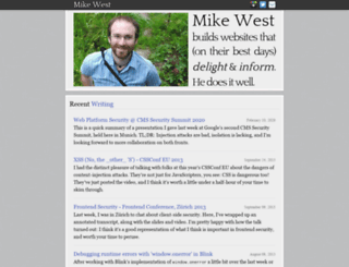 mikewest.org screenshot
