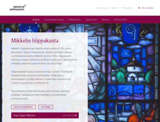 mikkelinhiippakunta.evl.fi screenshot