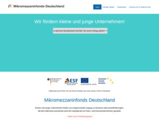 mikromezzaninfonds-deutschland.de screenshot