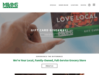 milamsmarkets.com screenshot