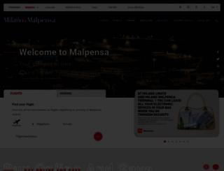 milanomalpensa-airport.com screenshot