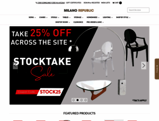 milanorepublicfurniture.com.au screenshot