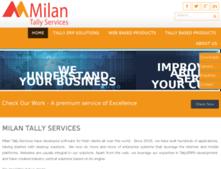 milansolutions.in screenshot