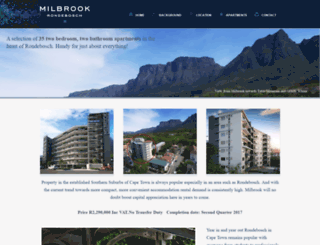 milbrook.co.za screenshot