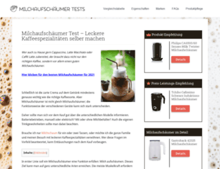 milchaufschaeumer-test.net screenshot